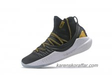 Herr Under Armour Curry 5 Mid Svart/Guld/Vit skor