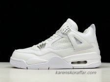 Air Jordan IV Retro AJ4 Pure Money 308497-100 Off-White skor