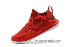 Herr Under Armour Curry 5 Röd/Svart skor