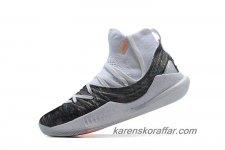 Herr Under Armour Curry 5 Mid Vit/Svart/Orange skor