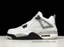 Air Jordan IV Retro AJ4 Pure Money 840606-192 Vit/Grå/Svart skor