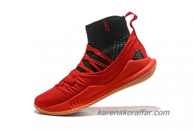 Herr Under Armour Curry 5 High Röd/Svart skor