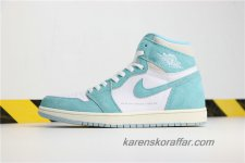 Air Jordan I Retro High OG AJ1 Turbo Green 555088-311 Vit/Ljusgrön skor