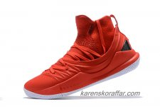 Herr Under Armour Curry 5 Mid Röd/Svart/Vit skor