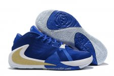 Nike Air Zoom Greek Freak 1 Blå/Vit/Guld Skor