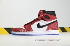Air Jordan I Retro High OG AJ1 Chicago Crystal 555088-602 Vit/Röd/Svart/Lila skor