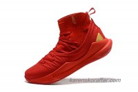 Herr Under Armour Curry 5 High Röd/Guld skor