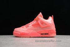 Dam Air Jordan IV Retro AJ4 Hot Punch AQ9128-600 Röd skor