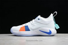 Nike PG 2 Playstation EP AO2984 100 Vit/Blå/Orange Skor