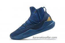 Herr Under Armour Curry 5 Mid Blå/Guld skor