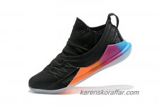 Herr Under Armour Curry 5 Svart/Orange/Blå/Rosa skor