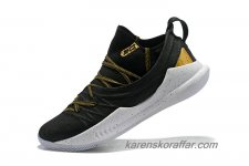 Herr Under Armour Curry 5 Svart/Guld/Vit skor